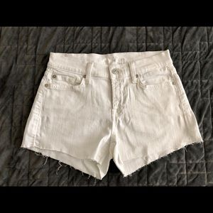 7 For All Mankind white jean shorts, size 23